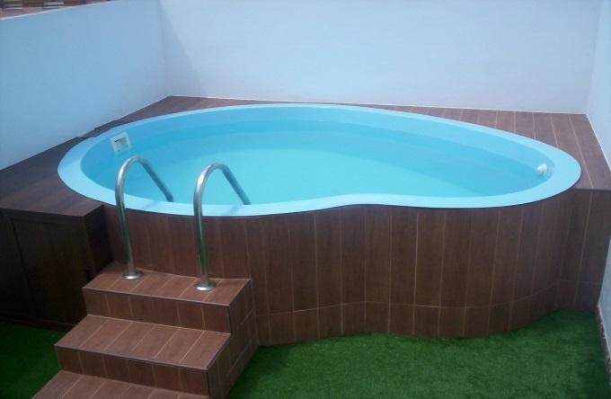 piscina de poliéster