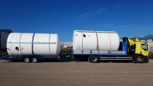 depósitos de poliéster para almacenar agua